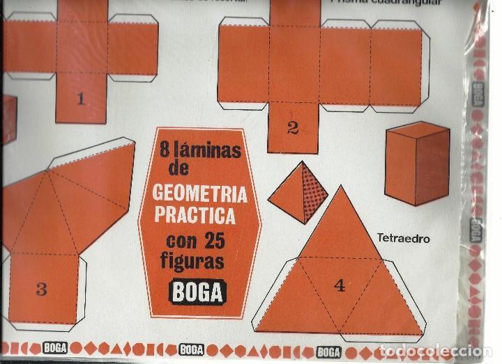 GEOMETRIA PRACTICA. EDICIONES BOGA 1970. (Coleccionismo - Recortables - Construcciones)
