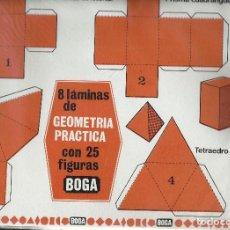 Coleccionismo Recortables: GEOMETRIA PRACTICA. EDICIONES BOGA 1970.. Lote 122214631