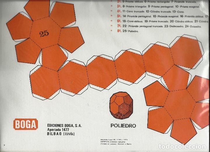 Coleccionismo Recortables: GEOMETRIA PRACTICA. EDICIONES BOGA 1970. - Foto 2 - 122214631
