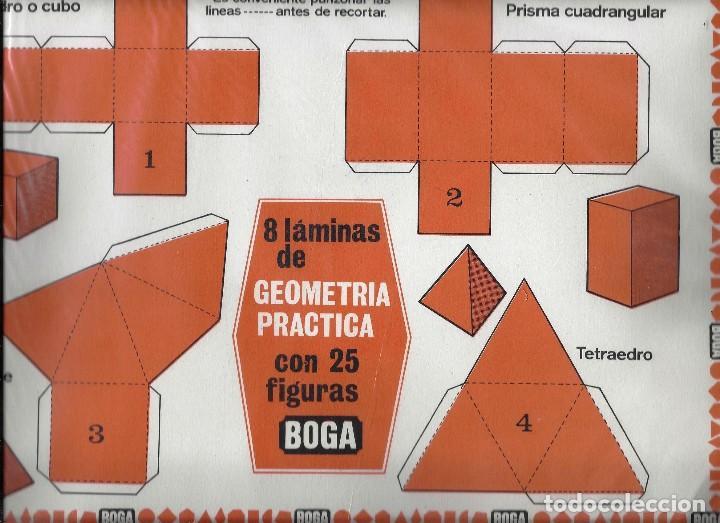 Coleccionismo Recortables: GEOMETRIA PRACTICA. EDICIONES BOGA 1970. - Foto 3 - 122214631