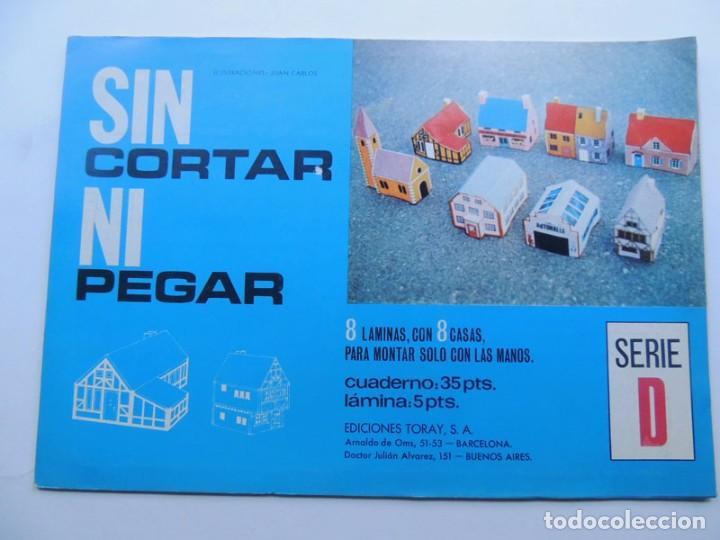 8 RECORTABLES DE CASAS / SIN CORTAR NI PEGAR - SERIE D / ED.TORAY 1971 / SIN USAR (Coleccionismo - Recortables - Construcciones)