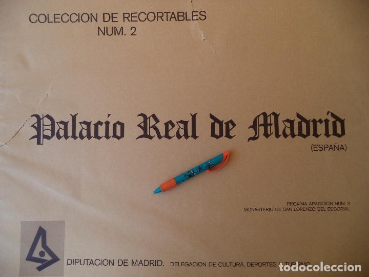 RECORTABLE PALACIO REAL DE MADRID PERFECTO ESTADO (Coleccionismo - Recortables - Construcciones)