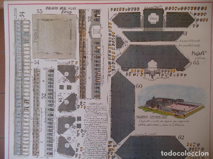 Coleccionismo Recortables: RECORTABLE PALACIO REAL DE MADRID PERFECTO ESTADO - Foto 3 - 124503379
