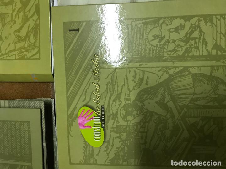 Coleccionismo Recortables: Construir la Edad Media 3 tomos, con fascículos sin encuadernar ediciones el prado - Foto 4 - 124519803