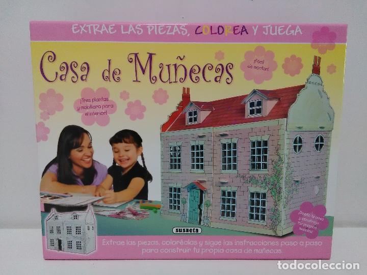 MAQUETAS RECORTABLES CASA DE MUÑECAS SUSAETA. COLOREA Y JUEGA. (Coleccionismo - Recortables - Construcciones)
