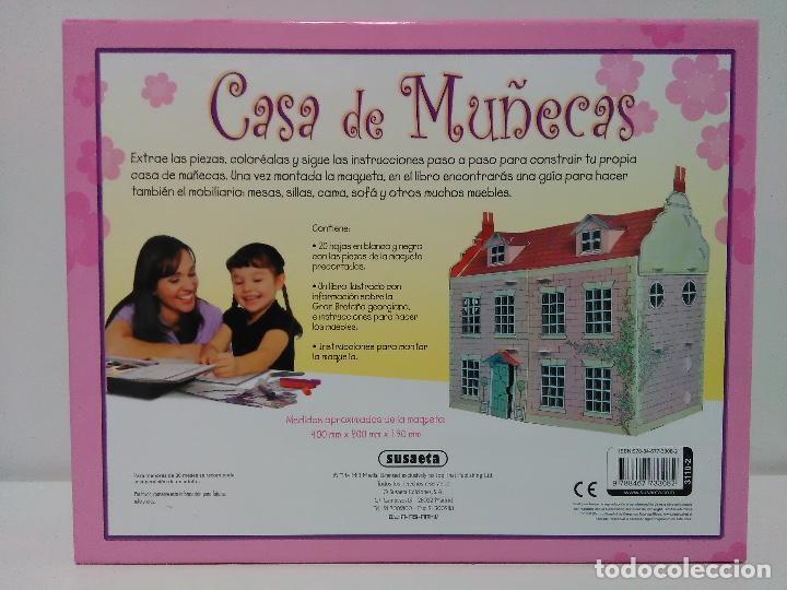 Coleccionismo Recortables: Maquetas recortables casa de muñecas Susaeta. Colorea y juega. - Foto 2 - 125314031