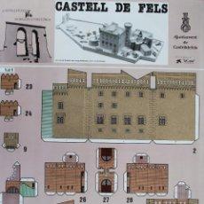 Coleccionismo Recortables: RECORTABLE CASTILLO DE CASTEL DE FELS (BARCELONA) 1987. Lote 125349527