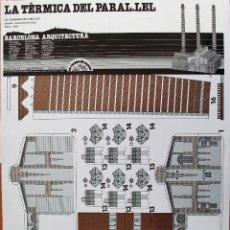 Coleccionismo Recortables: RECORTABLE EDIFICIO TERMICA DEL PARALELO BARCELONA. 1894. Lote 233455530