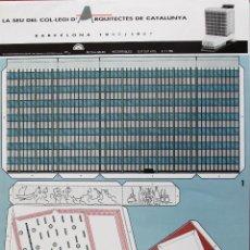 Coleccionismo Recortables: RECORTABLE EDIFICIO DEL COLEGIO DE ARQUITECTOS DE CATALUÑA. BARCELONA. 1962. Lote 125973267
