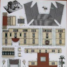 Coleccionismo Recortables: RECORTABLE MASIA ALBERGUE VIRGEN DE MONTSERRAT . BARCELONA. . Lote 125973603