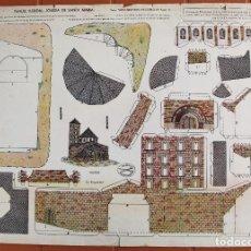 Coleccionismo Recortables: RECORTABLE SANTA MARIA DE TAHULL. EDITORIAL LA TIJERA . . Lote 125973739