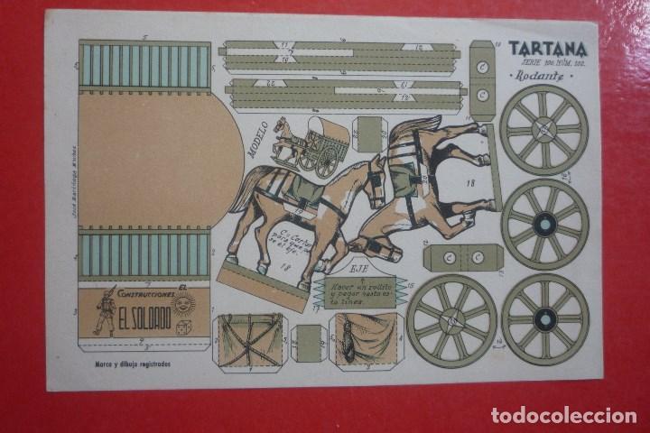RECORTABLE CONSTRUCCIÓN 'TARTANA'. PRINCIPIO SIGLO XX. CONSTRUCCIONES 'EL SOLDADO' SERIE 100 Nº 102. (Coleccionismo - Recortables - Construcciones)