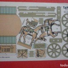Coleccionismo Recortables: RECORTABLE CONSTRUCCIÓN 'TARTANA'. PRINCIPIO SIGLO XX. CONSTRUCCIONES 'EL SOLDADO' SERIE 100 Nº 102.. Lote 132175186