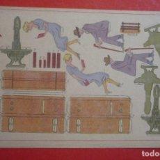 Coleccionismo Recortables: RECORTABLE CONSTRUCCIÓN 'BANCO CON PERSONAJES'. PRINCIPIO SIGLO XX. EDITORIAL HERNANDO Nº 29.. Lote 132175378