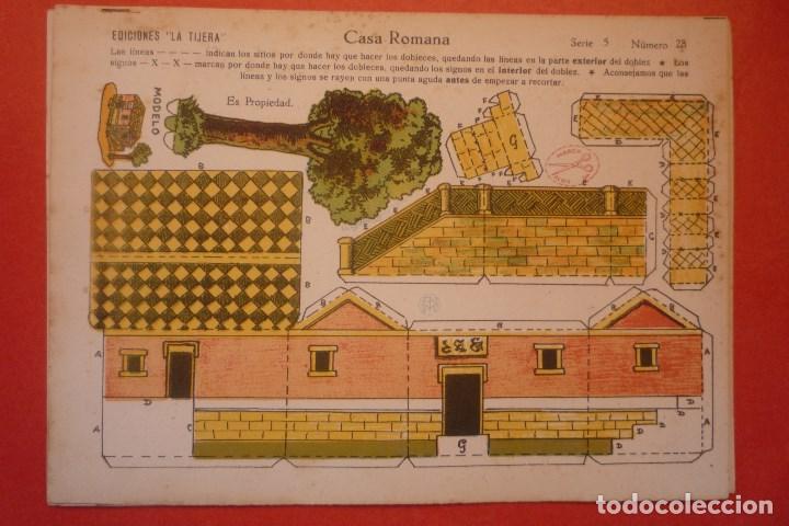 'CASA ROMANA'. RECORTABLE CONSTRUCCIÓN. EDICIONES 'LA TIJERA' SERIE 5 NÚMERO 28 (Coleccionismo - Recortables - Construcciones)
