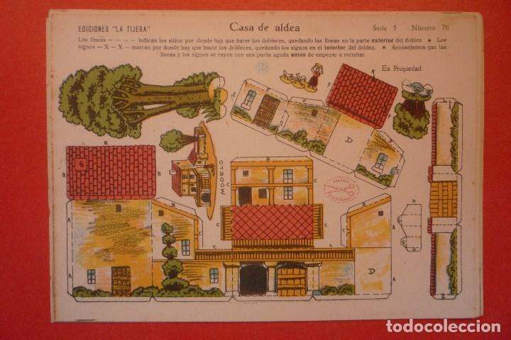 'CASA DE ALDEA'. RECORTABLE CONSTRUCCIÓN. EDICIONES 'LA TIJERA' SERIE 5 NÚMERO 76. (Coleccionismo - Recortables - Construcciones)