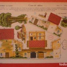 Coleccionismo Recortables: 'CASA DE ALDEA'. RECORTABLE CONSTRUCCIÓN. EDICIONES 'LA TIJERA' SERIE 5 NÚMERO 76.. Lote 132175718