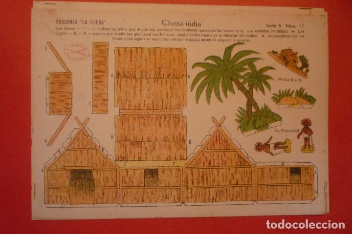 CHOZA INDIA. RECORTABLE CONSTRUCCIÓN. EDICIONES 'LA TIJERA' SERIE 5 NÚMERO 13. (Coleccionismo - Recortables - Construcciones)