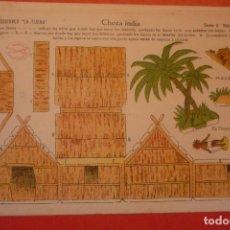 Coleccionismo Recortables: CHOZA INDIA. RECORTABLE CONSTRUCCIÓN. EDICIONES 'LA TIJERA' SERIE 5 NÚMERO 13.. Lote 132175746
