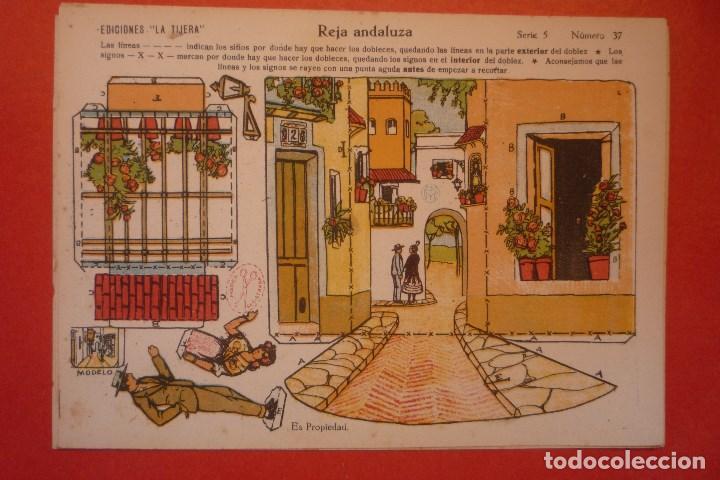 'REJA ANDALUZA'. RECORTABLE CONSTRUCCIÓN. EDICIONES 'LA TIJERA' SERIE 5 NÚMERO 37. (Coleccionismo - Recortables - Construcciones)
