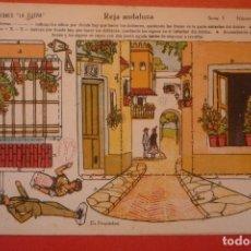 Coleccionismo Recortables: 'REJA ANDALUZA'. RECORTABLE CONSTRUCCIÓN. EDICIONES 'LA TIJERA' SERIE 5 NÚMERO 37.. Lote 132175786