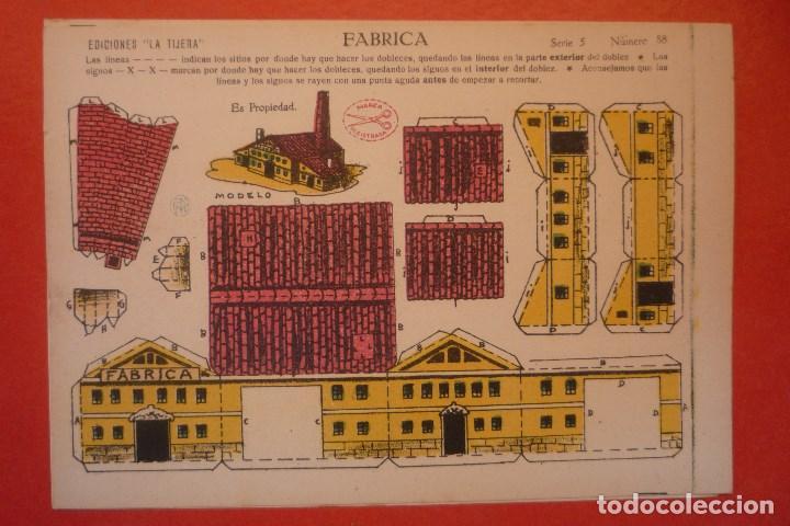 'FÁBRICA'. RECORTABLE CONSTRUCCIÓN. EDICIONES 'LA TIJERA' SERIE 5 NÚMERO 88. (Coleccionismo - Recortables - Construcciones)