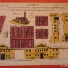 Coleccionismo Recortables: 'FÁBRICA'. RECORTABLE CONSTRUCCIÓN. EDICIONES 'LA TIJERA' SERIE 5 NÚMERO 88.. Lote 132175830