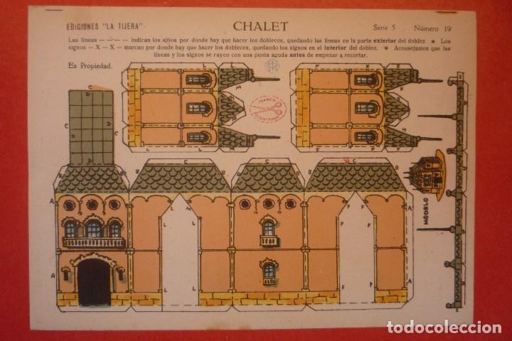 'CHALET'. RECORTABLE CONSTRUCCIÓN. EDICIONES 'LA TIJERA' SERIE 5 NÚMERO 19. (Coleccionismo - Recortables - Construcciones)