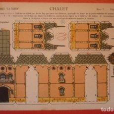 Coleccionismo Recortables: 'CHALET'. RECORTABLE CONSTRUCCIÓN. EDICIONES 'LA TIJERA' SERIE 5 NÚMERO 19.. Lote 132175866