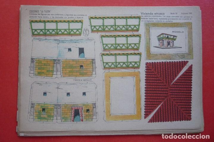 'VIVIENDA ETRUSCA'. EDICIONES LA TIJERA SERIE 10 Nº 259. TAMAÑO 22,5X32,5 CM (Coleccionismo - Recortables - Construcciones)