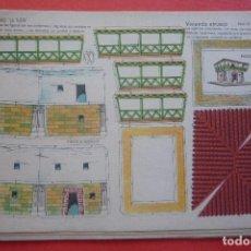 Coleccionismo Recortables: 'VIVIENDA ETRUSCA'. EDICIONES LA TIJERA SERIE 10 Nº 259. TAMAÑO 22,5X32,5 CM. Lote 135241686