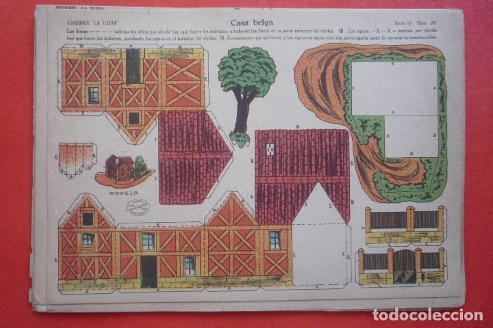 'CASA BELGA'. EDICIONES LA TIJERA SERIE 10 Nº 70. TAMAÑO 22,5X32,5 CM (Coleccionismo - Recortables - Construcciones)