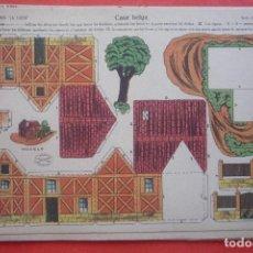 Coleccionismo Recortables: 'CASA BELGA'. EDICIONES LA TIJERA SERIE 10 Nº 70. TAMAÑO 22,5X32,5 CM. Lote 135241890