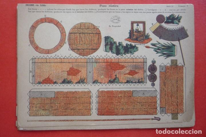 'POZO RÚSTICO'. EDICIONES LA TIJERA SERIE 10 Nº 7. TAMAÑO 22,5X32,5 CM (Coleccionismo - Recortables - Construcciones)