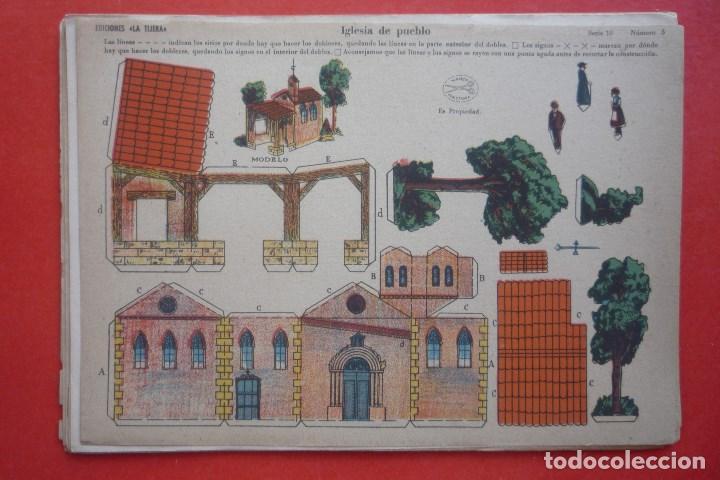 'IGLESIA DE PUEBLO'. EDICIONES LA TIJERA SERIE 10 Nº 5. TAMAÑO 22,5X32,5 CM (Coleccionismo - Recortables - Construcciones)