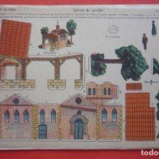 Coleccionismo Recortables: 'IGLESIA DE PUEBLO'. EDICIONES LA TIJERA SERIE 10 Nº 5. TAMAÑO 22,5X32,5 CM. Lote 135242098