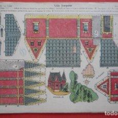 Coleccionismo Recortables: 'VILLA JOAQUINA'. EDICIONES LA TIJERA SERIE 10 Nº 16. TAMAÑO 22,5X32,5 CM. Lote 135242314