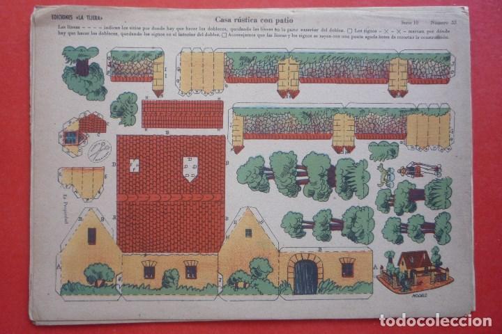 'CASA RÚSTICA CON PATIO'. EDICIONES LA TIJERA SERIE 10 Nº 53. TAMAÑO 22,5X32,5 CM (Coleccionismo - Recortables - Construcciones)