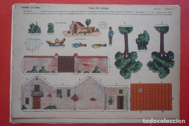 'CASA DE CAMPO'. EDICIONES LA TIJERA SERIE 10 Nº 4. TAMAÑO 22,5X32,5 CM (Coleccionismo - Recortables - Construcciones)