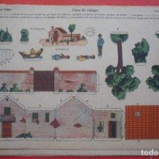 Coleccionismo Recortables: 'CASA DE CAMPO'. EDICIONES LA TIJERA SERIE 10 Nº 4. TAMAÑO 22,5X32,5 CM. Lote 135242938