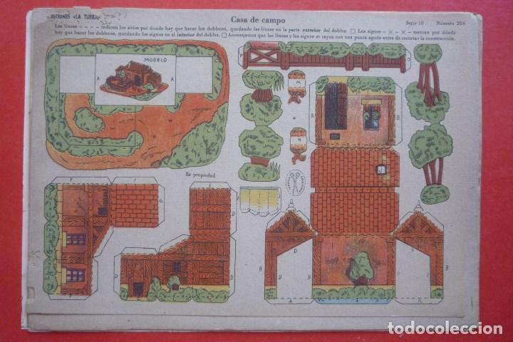 'CASA DE CAMPO'. EDICIONES LA TIJERA SERIE 10 Nº 206. TAMAÑO 22,5X32,5 CM (Coleccionismo - Recortables - Construcciones)