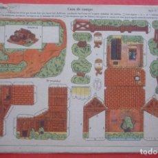 Coleccionismo Recortables: 'CASA DE CAMPO'. EDICIONES LA TIJERA SERIE 10 Nº 206. TAMAÑO 22,5X32,5 CM. Lote 135243066