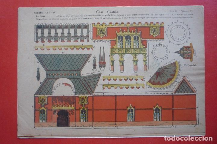 'CASA CASTILLO. EDICIONES LA TIJERA SERIE 10 Nº 52. TAMAÑO 22,5X32,5 CM (Coleccionismo - Recortables - Construcciones)