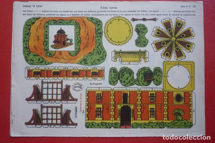 'CASA TURCA'. EDICIONES LA TIJERA SERIE 10 Nº 202. TAMAÑO 22,5X32,5 CM (Coleccionismo - Recortables - Construcciones)