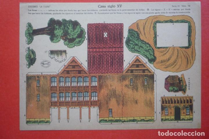 'CASA SIGLO XV'. EDICIONES LA TIJERA SERIE 10 Nº 72. TAMAÑO 22,5X32,5 CM (Coleccionismo - Recortables - Construcciones)