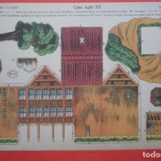 Coleccionismo Recortables: 'CASA SIGLO XV'. EDICIONES LA TIJERA SERIE 10 Nº 72. TAMAÑO 22,5X32,5 CM. Lote 135244794