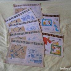 Coleccionismo Recortables: LOTE CUADERNOS DE MARQUETERÍA 7 NUMEROS . TRABAJOS MANUALES. EDITORIAL SALVATELLA. Lote 135458802