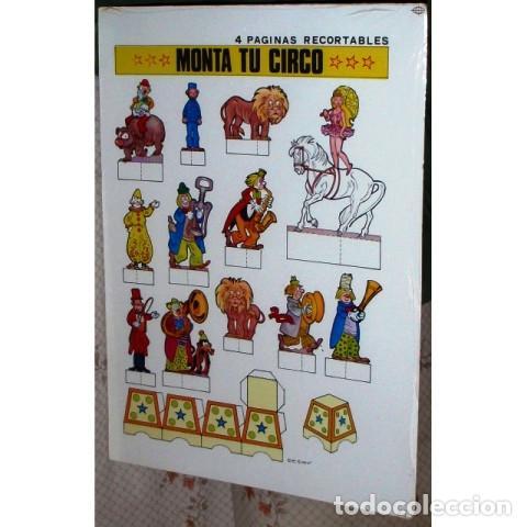 RECORTABLE MONTA TU CIRCO. CASQUEL EDICIONES (Coleccionismo - Recortables - Construcciones)
