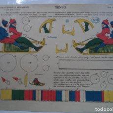 Coleccionismo Recortables: LA TIJERA SERIE 15 TRINEO Nº 4 CONSTRUCCIONES DE MOVIMIENTO. Lote 138128274