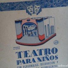 Coleccionismo Recortables: LA TIJERA TEATRO PARA NIÑOS CON PERSONAJES DECORACION Y UNA OBRA PARA REPRESENTAR COMPLETO. Lote 138758802
